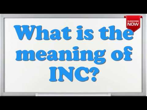 What Is The Full Form Of Inc Youtube