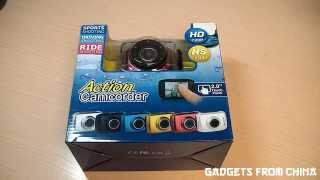 Обзор экшен-камеры за $35 (Action camcorder F5)