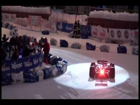 Formula 1 Ferrari on snow (Madonna di Campiglio 2011)