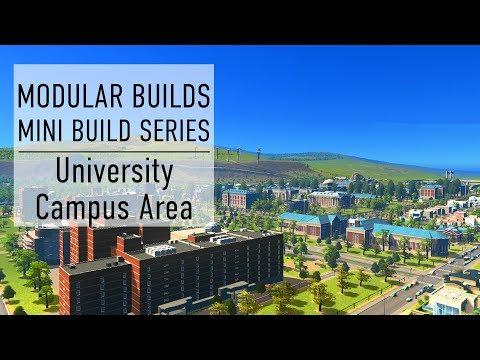 University Campus - Cities Skylines Modular Builds - No Mods (Mini Build Guides)