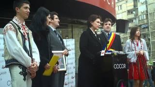 Oana Pellea la primirea unei stele pentru Amza Pellea pe Walk of Fame