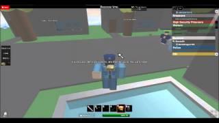 ROBLOX DML Prisión Roleplay Visitante jugando como un policía