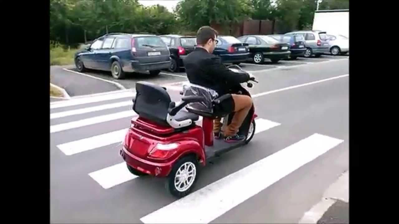Tricicleta Electrica Adulti 2 Locuri Persoane Youtube