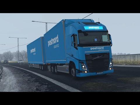 ETS2 1.30 - Volvo FH Scandinavian Combo Tandem NTM - Sweden in Winter - Realistic Graphics