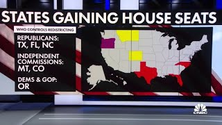 Census data shows which states will gain and lose House seats