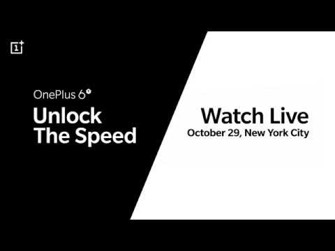 OnePlus 6T Launch Event - Watch live, October 29.