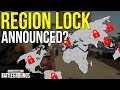 REGION LOCK ANNOUNCED? - PUBG News