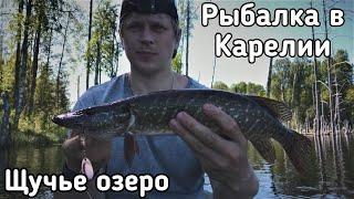 Рыбалка в Карелии на щучьем озере