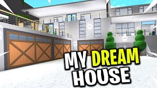 Building MY DREAM HOUSE in Welcome To Bloxburg Subscribe here for m...