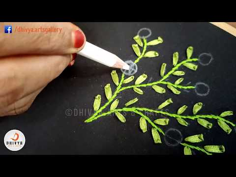 Most Beautiful Ribbon Embroidery | Hand Stitching Tutorial For Beginners | #316