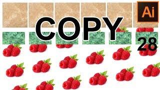 Как копировать   дублировать предметы Инструментом выделение ❤ 3 способа Adobe Illustrator Урок 28
