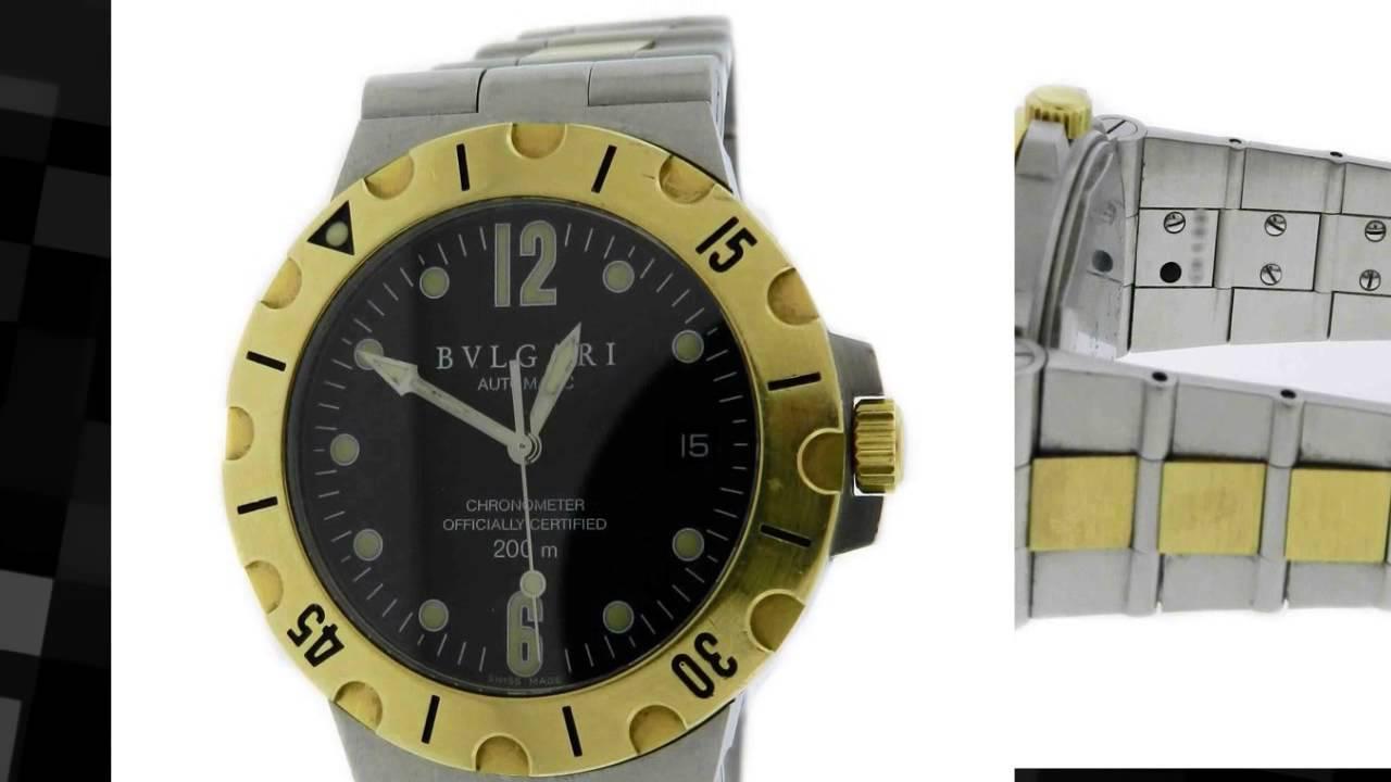 09b7c2cf646 Bvlgari Diagono Stainless Steel 18k Yellow Gold Automatic Watch ...
