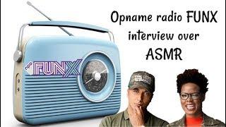 Opname Radio FUNX Interview Over ASMR Nederlands Dutch ASMR Mandy Denise