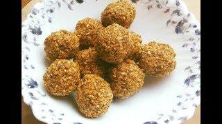 Sugarless Diet Ladoos: No Ghee, No Oil Vegan Gluten-Free Power-Packed Ladoo Recipe