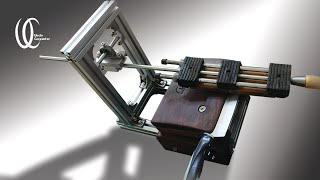 Awesome woodworking!! How to make a knife sharpening jig. DIY. Build a knife sharpening tool.