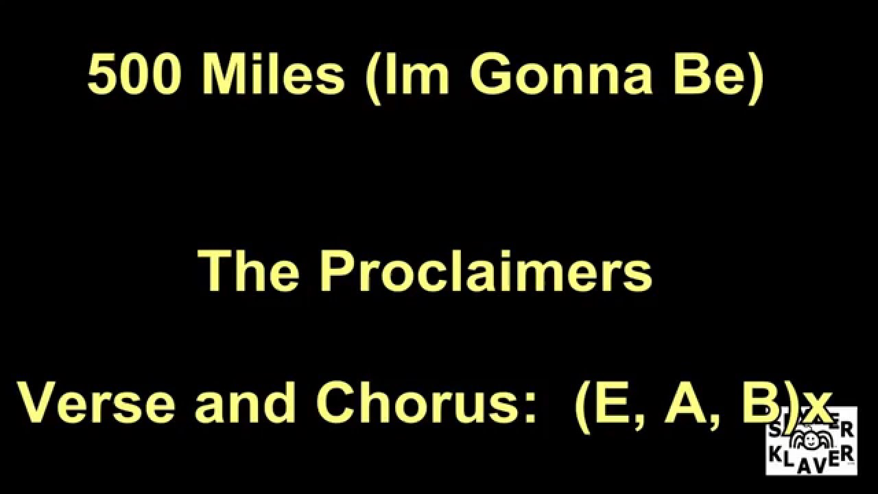 Im Gonna Be 500 Miles The Proclaimers Lyrics Chords Youtube