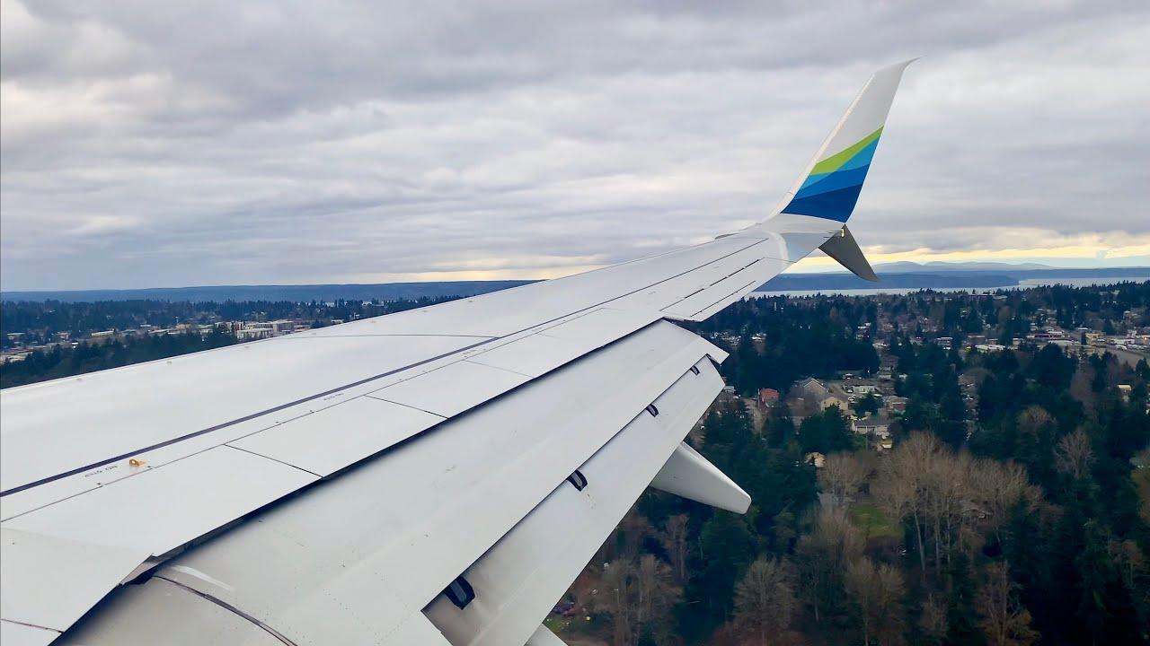 Overcast Seattle Landing – Alaska Airlines – Boeing 737-900 – SEA – N461AS – SCS Ep. 537