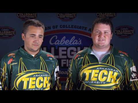 2016 Cabela's Collegiate Bass Fishing Open, Lake Dardanelle, AR - Day 2