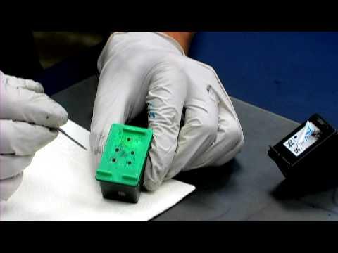 HP Printer Cartridges : How to Refill the Ink Cartridge for HP PSC 1610V - YouTube