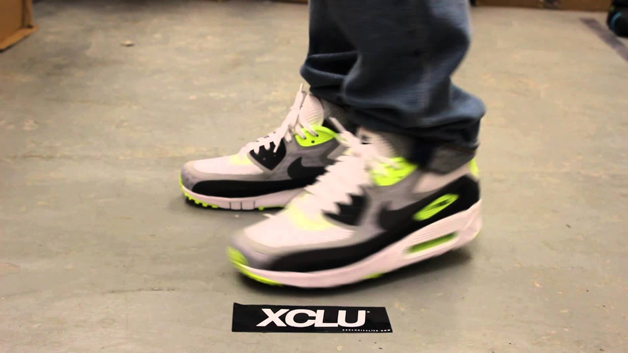 hot sale online 2c6e2 091ee Nike Air Max 90 Breath - Volt - On-feet Video at Exclucity