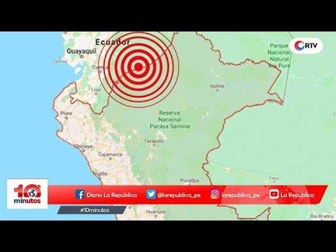Fuerte sismo de magnitud 7.7 se sintió en varias regiones del país - 10 minutos Edición Matinal