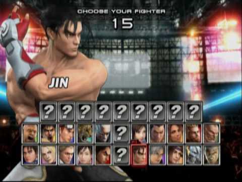 Tekken 5 PS2 Character Select - YouTube