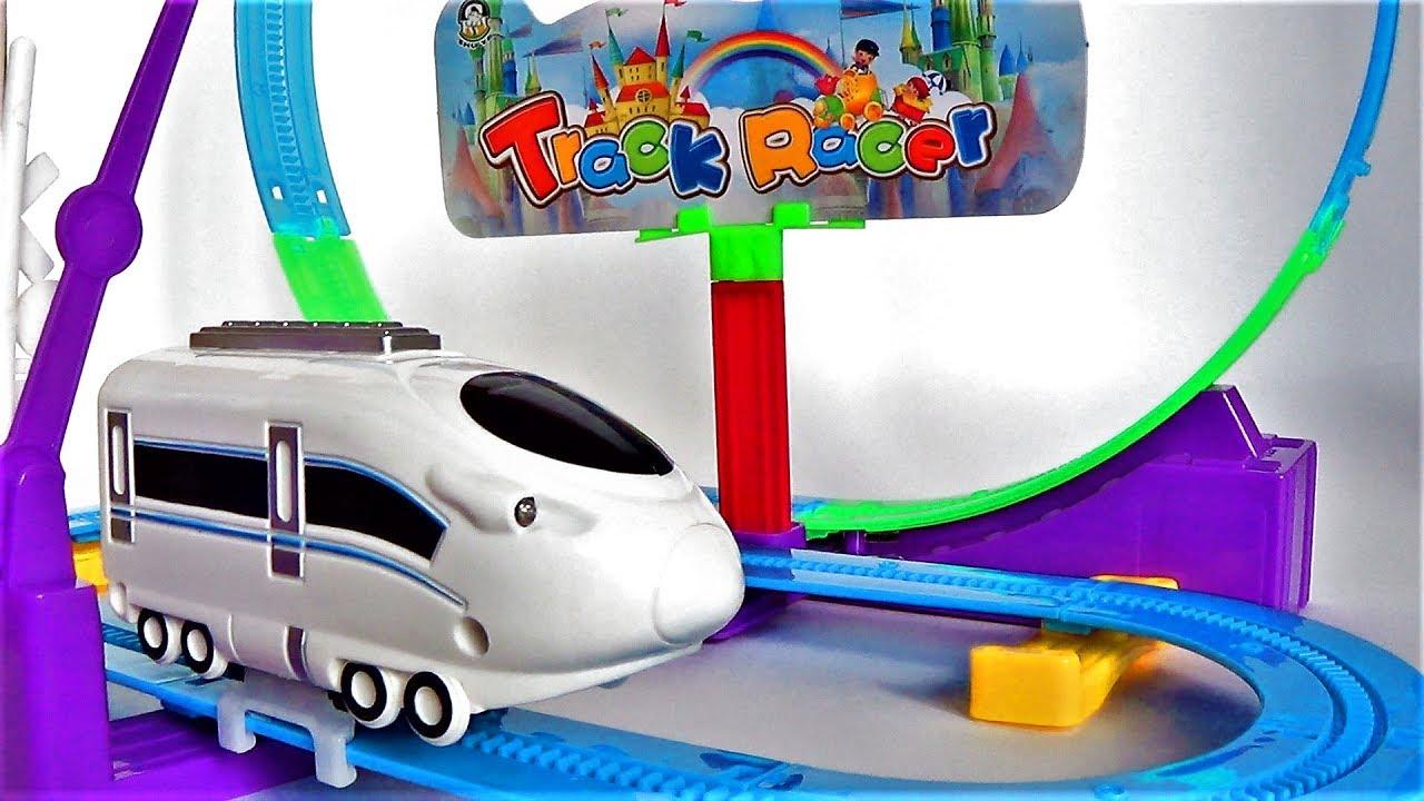 Супер поезд и железная дорога - игрушки для мальчиков - видео для детей