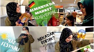 ANNEMLE ALMANYA'DA MARKET ALIŞVERİŞİMİZ - NEKADAR ÖDEDİK? - YAZ FESTİVALİ - ALMANYA VLOG