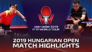 Wang Chuqin vs Simon Gauzy | 2019 ITTF World Tour Hungarian Open Highlights (R16)