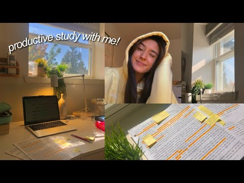 GET PRODUCTIVE WITH ME! study with me!
