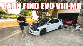 homepage tile video photo for FOUND AN EVO VIII MR IN A BARN - AND WE'RE RESTORING IT! (Car under the tarp reveal)