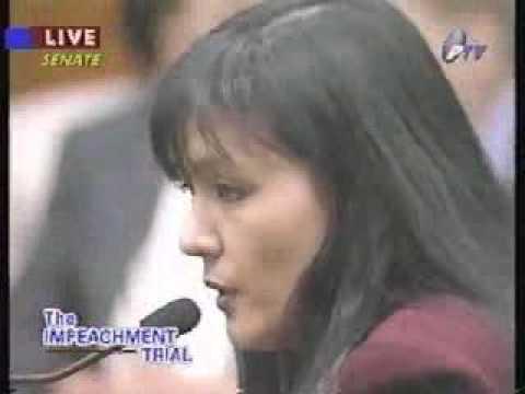 "Impeachment Trial of President Joseph Estrada: ""...kay Presidente naman yang jueteng"" - Emma Lim"