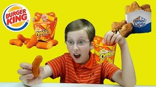 burger king mac n cheetos white castle mac and cheese nibblers taste test review   collintv