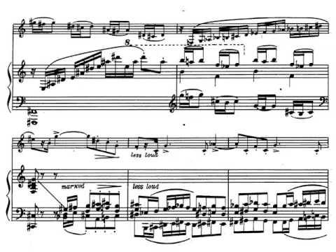 Paul Creston. Sonata para Saxofón I-Tempo 1. Partitura. Audición.