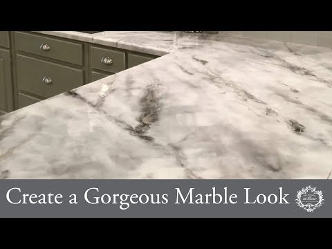 Create a Gorgeous Marble Look With Glazed Over & One Step Paint™
