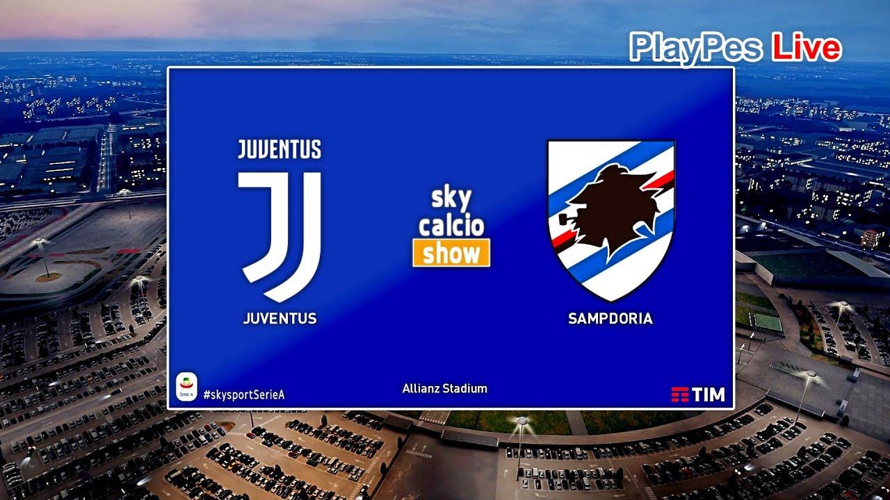 PES 2020 - Juventus vs Sampdoria - Full Match & Goals - Gameplay ...