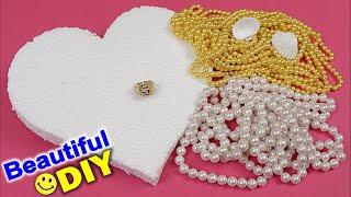 DIY Heart Shaped Engagement Tray Decoration Ideas || Handmade Wedding Ring Tray Decoration Ideas