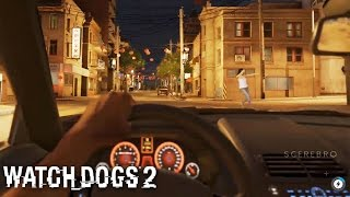 Watch Dogs 2 - First Person Mode (While Driving) GAMEPLAY
