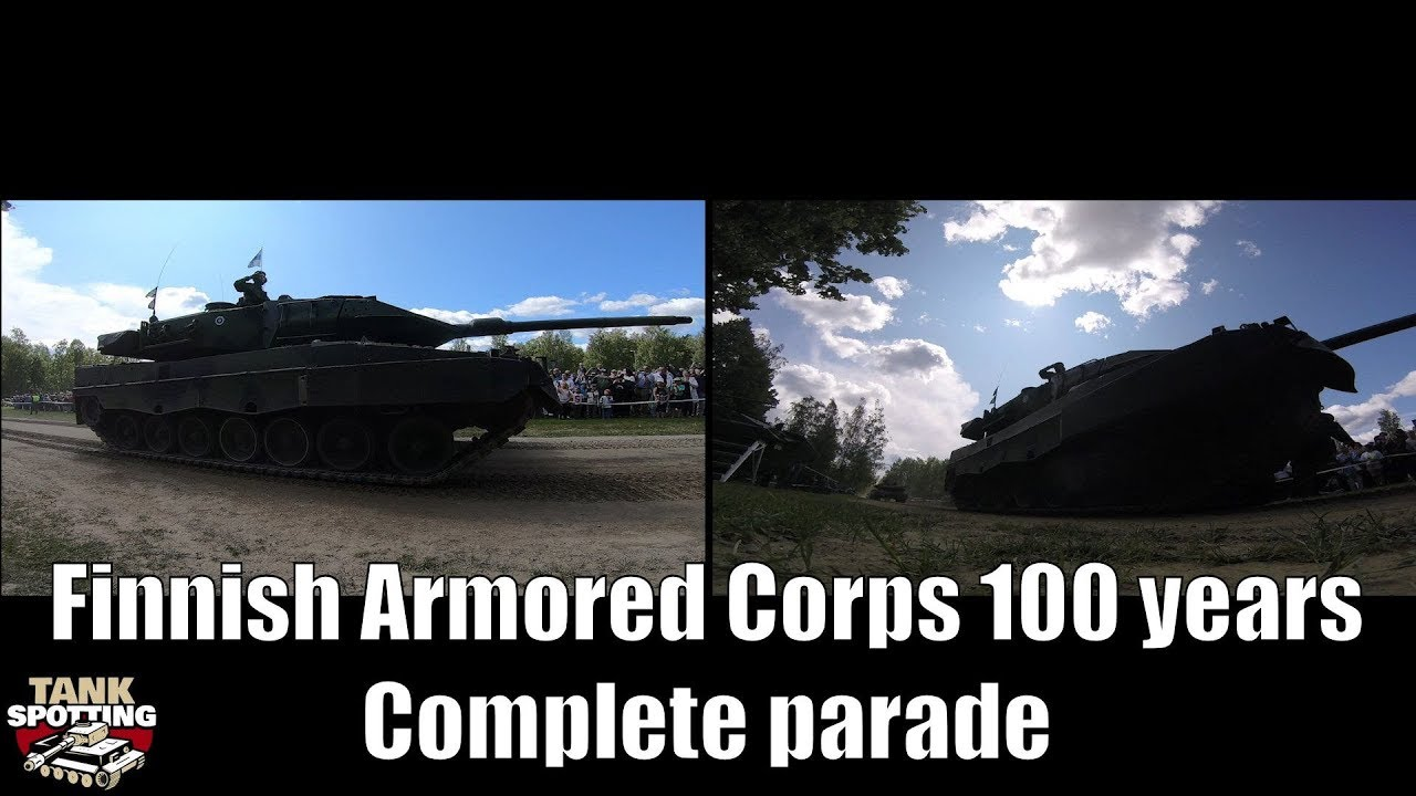 Double Widescreen Finnish Armored Corps 100 Years Parade - FinTank100