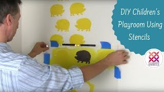 DIY A Nursery or Kids Playroom Using A Stencil
