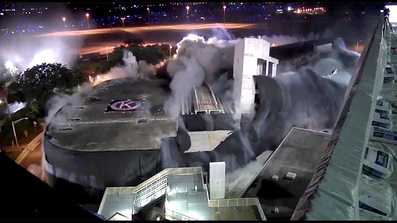 Watch Old Rental Car Garage Imploded At Tampa International