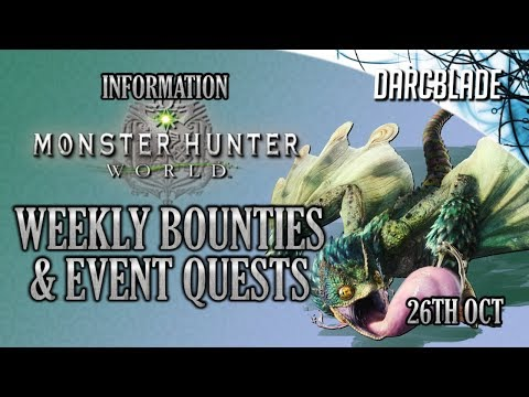 AT Zorah Magdaros : Weekly Limited Bounties & Event Quests : Monster Hunter World : 26th Oct 18 thumbnail