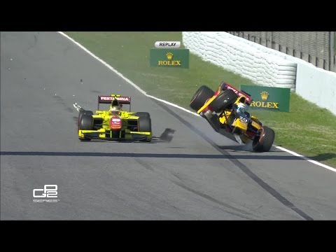 Sean Gelael Pembalap Indonesia GP2 2016 Clash With Antonio Giovinazzi