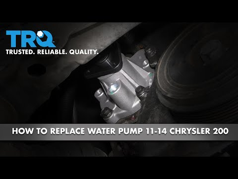 How to Replace Water Pump 11-17 Chrysler 200