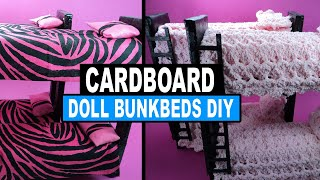 Doll Crafts | How To Make Doll Bunk Beds