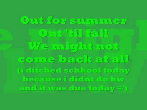 Schools out - Alice Cooper + Lyrics