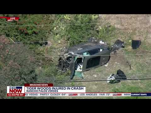 Tiger Woods injured in rollover car crash, pulled from SUV by LA County Fire
