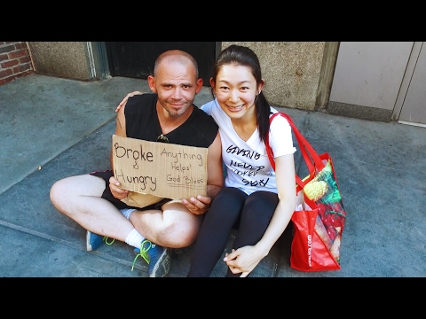 Woman Flies Around World to Help Feed Homeless People   Touching Video