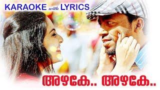 അഴകേ അഴകേ | New Malayalam Karaoke | Kattappanayile Hritwik Roshan Malayalam Movie Karaoke