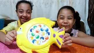 العاب اطفال - تحدي لعبة اصطياد السمك -  fishing game toy